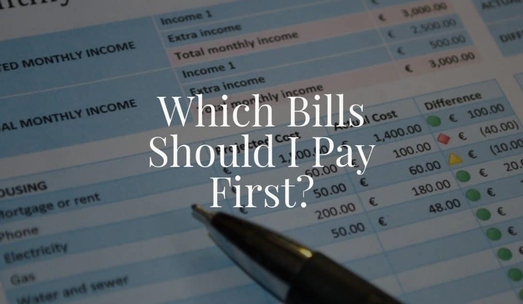 Which Bills Should I Pay First?