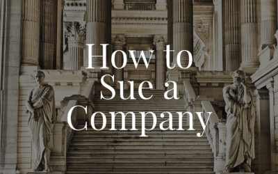 How to Sue a Company